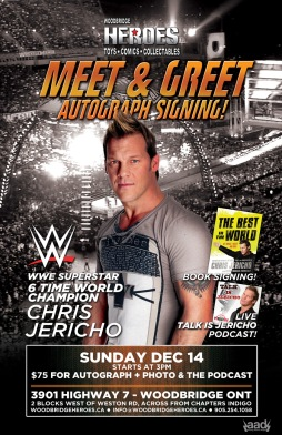 HEROES SIGNING - CHRIS JERICHO
