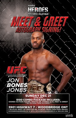 HEROES SIGNINGS - JON JONES