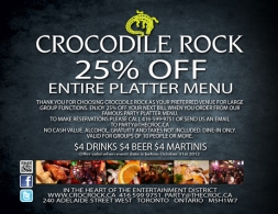 CROCODILE ROCK - COUPON