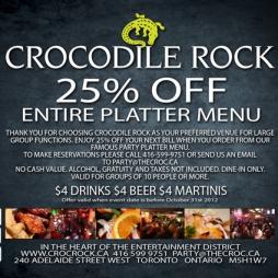 CROCODILE ROCK - COUPON