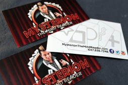 MYSTERION THE MINDREADER - BUSINESS CARD