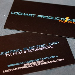 LOCHART PRODUCTIONS - BUSINESS CARD