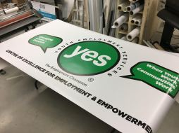 YES - VINYL WALL BANNER