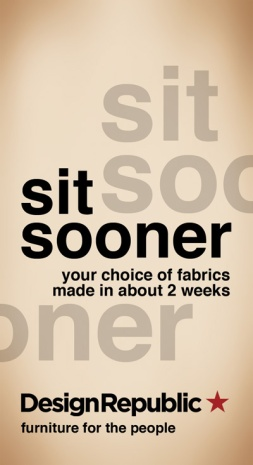 DESIGN REPUBLIC 'SIT SOONER' - TAG