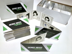 WENDY HAYES - FOLDING BUSINESS CARD